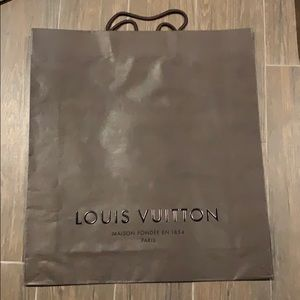 Authentic Louis Vuitton shopping bag